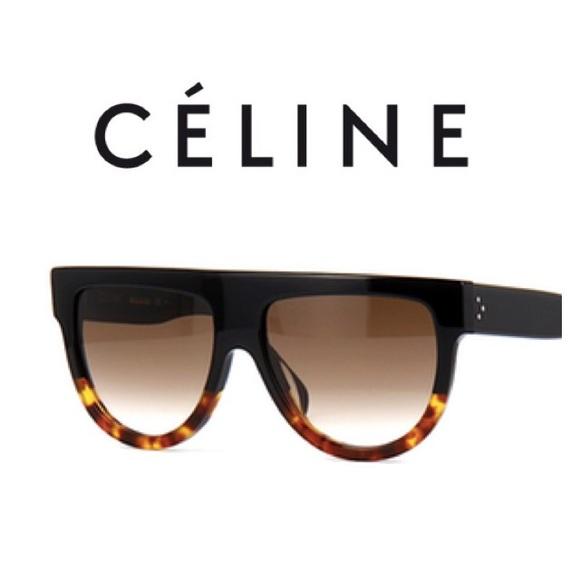b5fdb800e2c Celine Shadow Sunglasses CL41026 S Black Tortoise